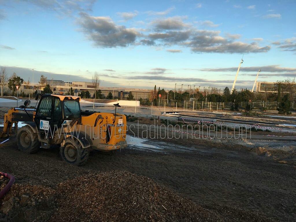 Obras zona pabellón diciembre 2016